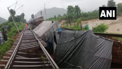 Photo of Odisha: Three wagons of a goods train derail near Rayagada