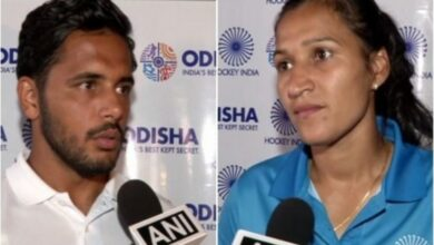Photo of Indian hockey teams arrive back after winning Olympic Test Event