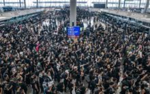 Stock markets worry about Hong Kong protests as airport closes
