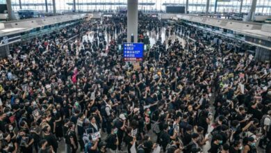 Photo of Stock markets worry about Hong Kong protests as airport closes