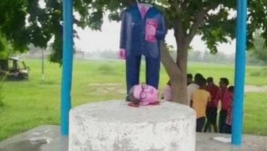 Photo of UP: 3 Ambedkar statues vandalised in Azamgarh