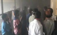 Fire in Gandhi Hospital