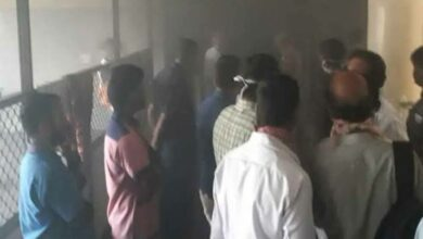 Photo of Fire in Gandhi Hospital