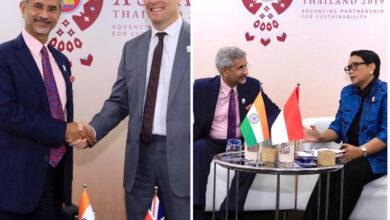 Photo of Jaishankar meets British, Indonesian counterparts in Bangkok