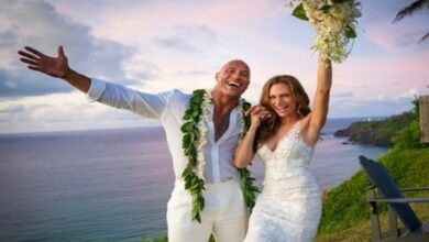 Photo of Dwayne Johnson 'feels great' after getting married