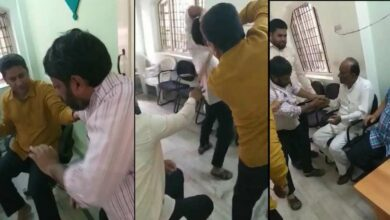 Photo of AIMIM MLA Brutally beat up a man
