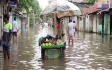Waterlogging in parts of Kolkata due to continuous rainfall