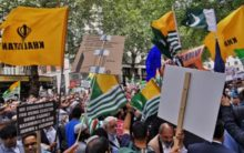 Thousands protest for Kashmir outside Indian High Commission