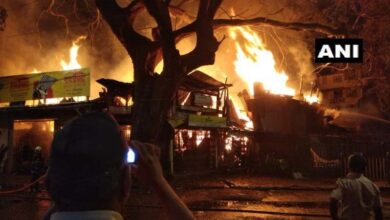 Photo of Fire breaks out at Mustafa Bazaar timber yard