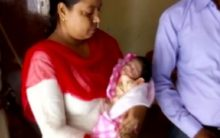 Budaun: UP cop rescues newborn child dumped in drain