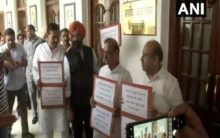 BJP-SAD MLAs protest outside Delhi CM's office