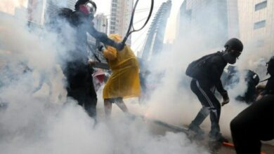 Photo of Hong Kong protest: Police fire water cannons at demonstrators