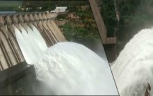 Srisailam Dam gates open due to Heavy inflow