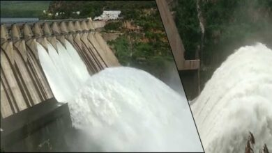 Photo of Srisailam Dam gates open due to Heavy inflow