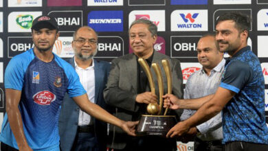 Photo of Bangladesh, Afghanistan share trophy as rain washes out final
