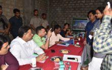 Akbaruddin Owaisi inspects Anees ul Ghurba work