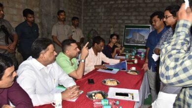 Photo of Akbaruddin Owaisi inspects Anees ul Ghurba work