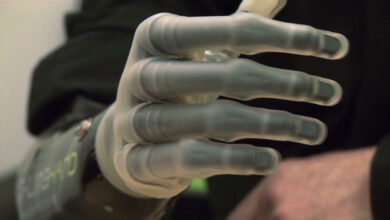 Photo of e-glove offers human-like touch for prosthetic hand users