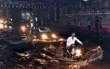 City Roads after Heavy Rain