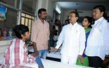 Health Minister Etela visits Fever Hospital