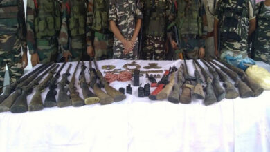 Photo of Assam: Security forces recover huge cache of arms, ammunition