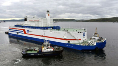 Photo of Russia's world-first floating nuclear plant arrives in port