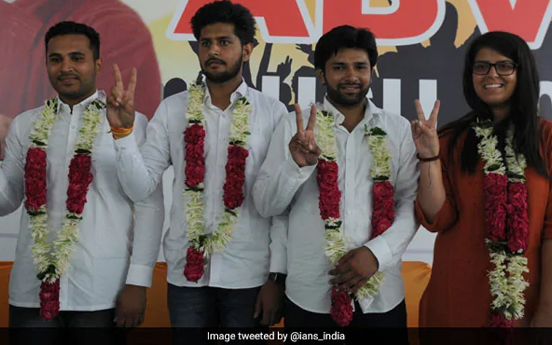 Image result for Former Dusu president Shakti Singh joins BJP with his supporters