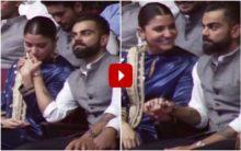 Anushka Sharma, Virat Kohli steal romantic moments at event