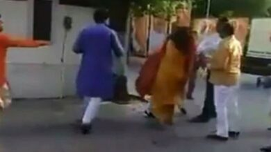 Photo of Delhi: BJP chief removed from post for slapping wife at office