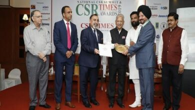 Photo of SST awarded CSR Times Award for best NGO