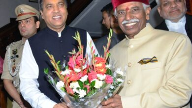 Photo of Dattatraya sworn in as Himachal Governor
