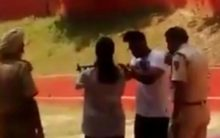 Delhi cop suspended for training children at shooting range