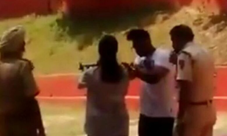 Delhi cop suspended for training children at shooting range