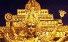 A Rs 20 crore Durga idol made of gold