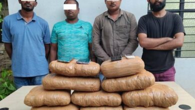 Photo of Four held with 22 kg ganja at MGBS bus stand in Hyderabad