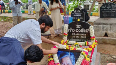 Photo of Floral Tribute to Gauri Lankesh