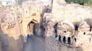 Fateh Darwaza of Golconda cleaned