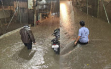 Heavy rain pummels Hyderabad, throws traffic haywire