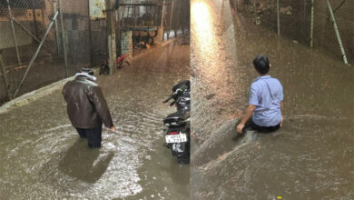 Photo of Heavy rain pummels Hyderabad, throws traffic haywire