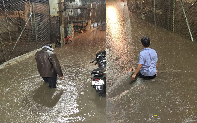 Heavy rain pummels Hyderabad, throws traffic haywire