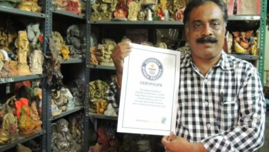 Photo of Hyderabad devotee is World's largest Ganesh Idol collector