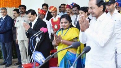 Photo of T Soundararajan sworn in as 2nd Governor of Telangana