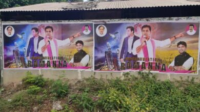 Photo of Film star-like posters of KTR dot Hyderabad roads