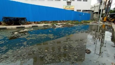 Photo of Rain water causes trouble