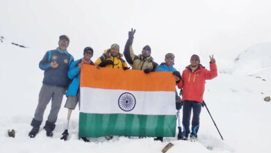 Photo of AMF & BSF Institute Training teams scaled Mt. Bhageerathi II