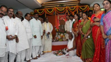 Photo of BJP performed Ganesh Pooja at Party office in Hyderabad