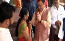 JP Nadda visits Swaminarayan Temple in Mumbai