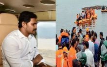 Andhra CM takes aerial survey of the boat accident site