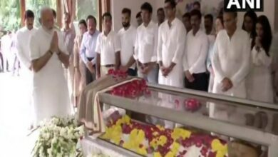 Photo of PM Modi visits Jethmalani's residence to pay his last respect