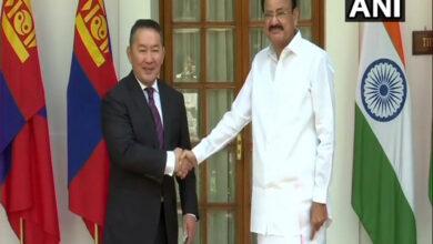 Photo of Mongolian Pres meets VP Naidu
